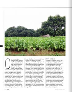 Business Traveller -3rd Anniversary - Authored Article - Cigar - April issue 2018 - 02