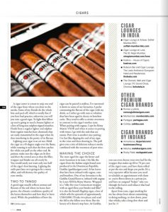 Business Traveller -3rd Anniversary - Authored Article - Cigar - April issue 2018 - 04