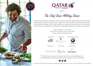 The Omar Allibhoy Dinner at JW Marriott Mumbai _ 7th June 2018