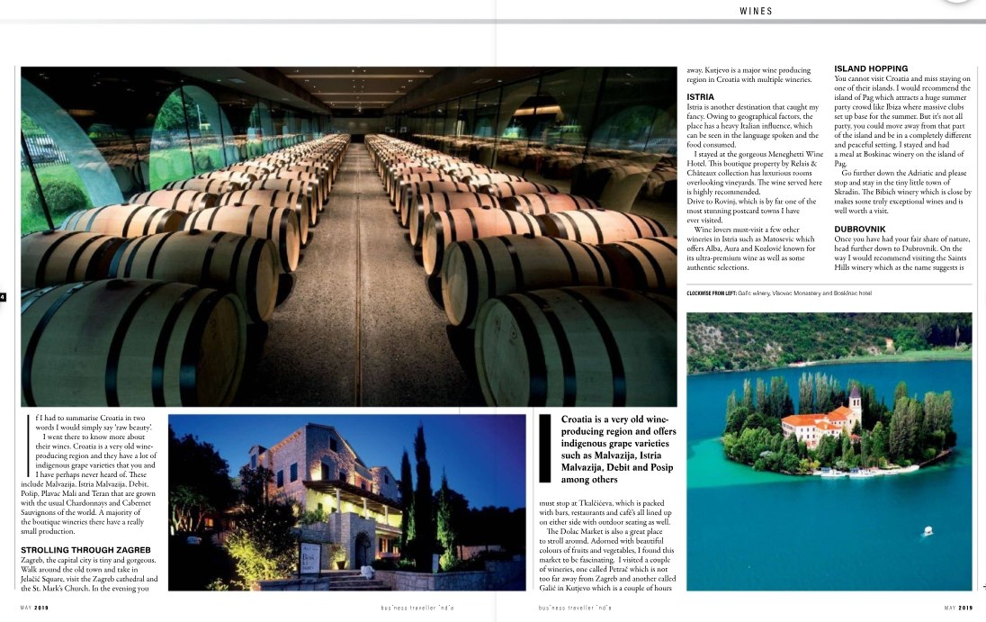 Authored Article- Business Traveller - Nikhil Agarwal, All Things Nice - Croatia Trip - May 2019 issue - Page 64 and 65