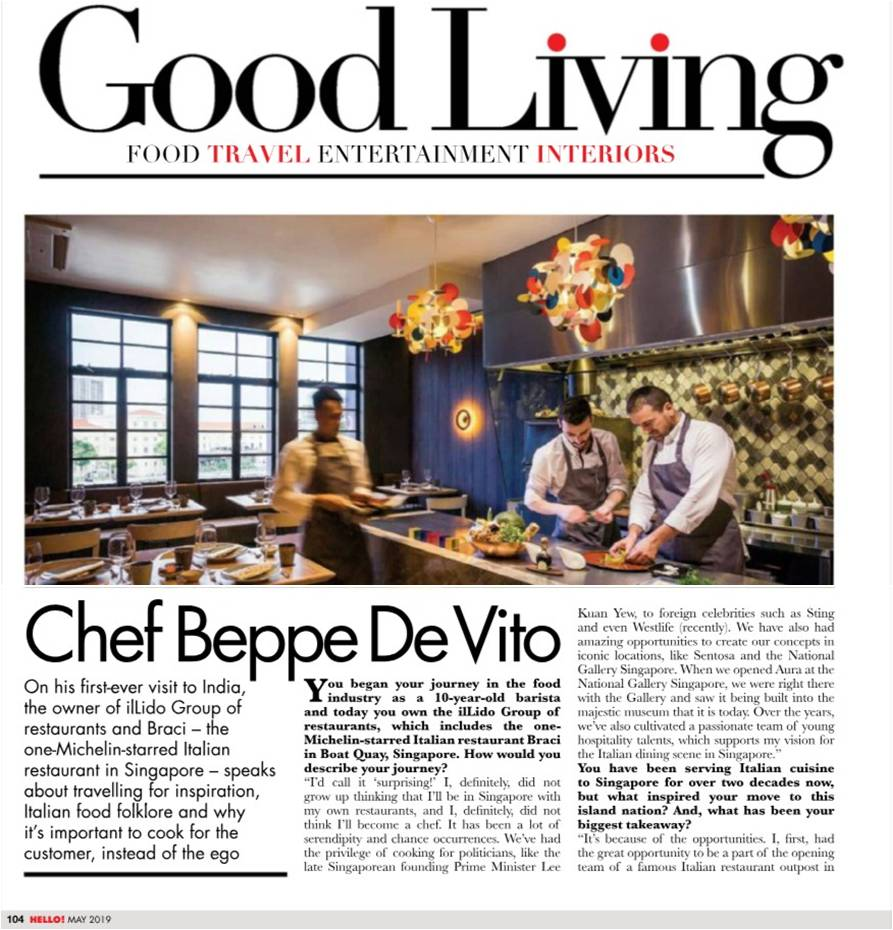 Hello! - Chef Beppe De Vito - May 2019 - Pg 104